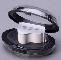 Wholesale 60X X Glass Magnifying Magnifier Jeweler Eye Jewelry Loupe Loop W LED Lights