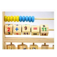Wholesale New Multi purpose Computation Frames Early Baby Learning Educational Toys Versatile Flap Abacus Kids Learning Wooden Toys toy torch