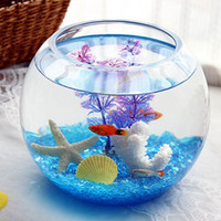 Wholesale super white ball round vase aquarium glass goldfish bowl turtle tank Creative Desktop Aquarium
