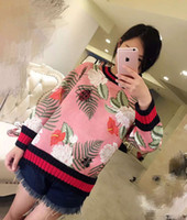 Wholesale HIGH QUALITY Autumn Winter Fashion Designer Women O Neck Print Manual Ladybug Butterfly Beading Cotton Casual Sweatshirt Pullover