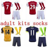 Wholesale Top Quality Arsenal jerseys kit Away home RD goalkeeper Jersey WILSHERE OZIL WALCOTT RAMSEY ALEXIS shirt socks