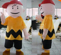 Wholesale High quality cartoon character charlie brown mascot costume fancy dress costumes adult costume custom mascot suit