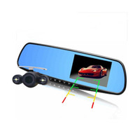 Caliente 4,3 pulgadas de coche DVR Full HD 1080p doble lente frontal y posterior cámara para coche espejo retrovisor cámara DVR Video Recorder