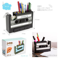 adhesive pen holder - Popular Creative adhesive tape holder Pen holder Vase Pencil Pot Stationery Desk Tidy Container office stationery supplier Gift