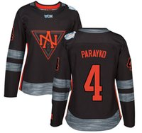 america names - 2016 Premier Custom Jersey World Cup North America Womens Jerseys Colton Parayko Black Ice Hockey Jerseys Stitched Name Number