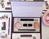 Wholesale Christmas new nine sets pack Set Cosmetic Set Makeup medium Mascara Eyeliner Lipstick Lip Gloss blush BB cream puff Cosmetic Set
