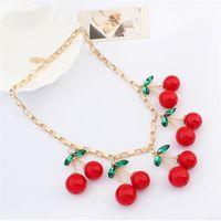 beautiful release - manufacturers release Korean jewelry fashion jewelry pendant super beautiful cherry