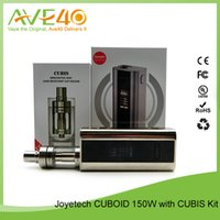 Wholesale original Joyetech cuboid cubis kit joytech w TC box mod w3 with Firmware Upgradeable SS316 Clapton ohm coil atomizer mini