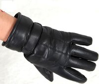Wholesale Moto Racing Gloves Sheep skin motorcycle gloves cycling gloves Warm Winter Anti slip Leather Motorcycle Gloves black color03