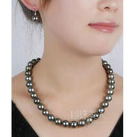beaded rose necklace - Free earrings MM NATURAL TAHITIAN BLACK PEARL NECKLACE K CLASP