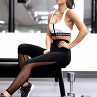 ankle trousers - Mesh Women Leggings Elastic Stretch Sport Slimming Legging Workout Active Pants Running Tights Fitness Leggings Gym Trousers