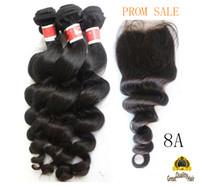 cheap hair - Best Sale Brazilian Hair Cheap A Peruvian Brazilian Indian Malaysian Hair Extension Hair Loose Wave With Closure inch