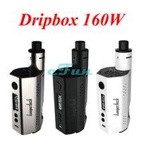 e-juice - Kanger Dripbox W Kit E Cigatette Kit TC Funcition ml Capacity Kangertech W Dripbox TC Box Mod Easy Use RBA Deck Juice Delivery System
