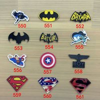 Wholesale 2016 Japanese Harajuku Style Superman Batman Logo Acrylic Brooch Pin No phone Shell DIY Patch