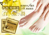 Wholesale AFY Golden Foot Membrane Peeling Skin Whitening Foot Calluses foot mask pair per bag pairs