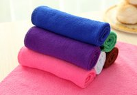 Wholesale Cleaning cloth absorbent lint free dish cloth thick multicolor catcher not contaminated with oil washing towels