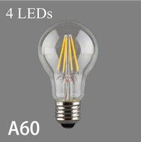 antique shell lamp - A60 W V V Edison Retro Filament LED Bulbs E27 V Lamp Antique glass Shell Candle Light Vintage Warm Energy Saving
