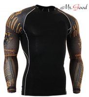 Wholesale Strong Sexy Man Absorbent Suit Man Compression Sports T shirt Gym Body Builging Fitness Man Tight Cos play tights Top