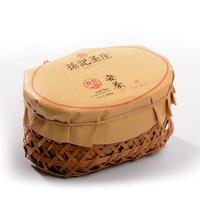 Wholesale Sunjishengzhuang chinois Un thé Pu er spécialité de Huangshan au début du printemps thé emballé dans grand panier en bambou g SJ77