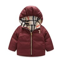Wholesale Winter Children Cute Down Coat Thicken Warm Kids Jacket White Duck Down Coat Hooded Snow Coat MC0399