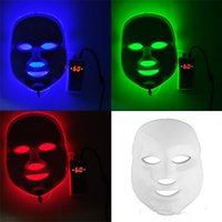 Wholesale Korean LED Photodynamic Facial Mask Home Use Beauty Equipment Anti acne Skin Rejuvenation LED Photodynamic Masks Colors Lights