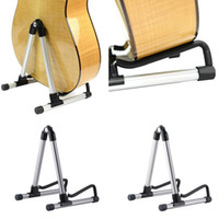 Wholesale Universal Folding A Frame Guitar Stand Frame Floor Rack Holder For Acoustic Guitar Electric Guitar Bass