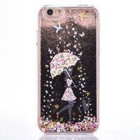 apple umbrella - For IPhone SE S Cases Hard Plastic Cover Diamond Glitter Back Case for IPhone s SE S Plus Girl Under Umbrella