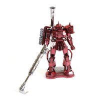 Wholesale D Metal Puzzles Red Zaku Red Metal D Metal Model NANO Styles Chinses Metal Earth DIY Creative Gifts
