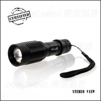 Wholesale led flashlight lumens cree xml t6 torch lamp flashlights long range zoom powered by ode high medium low sos Strobe Lamp