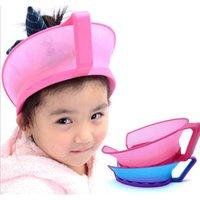 Wholesale New Adjustable Baby Shower Cap Protect Shampoo Kids Bath Visor Hat Hair Wash Shield For Children Infant Splashguard