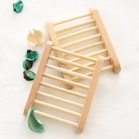 Wholesale Creative Home Wood Soap Dish Portable Draining Plate For Travel Bar Home Bathroom