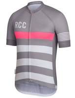 Wholesale Top quality rcc gray color cycling jersey fabric pro team fit cut short sleeve racing jerseys cycling gear Road Bike Clothing