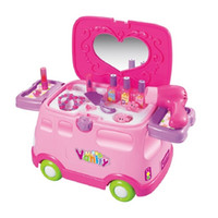 Wholesale Funny in1 Electronic Multifunctional Classic Pretend Play Dressing Table Car Playset Dresser for Girls Baby Toys With no Box