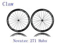 Wholesale Claw Full Carbon Fiber Wheelset Road Bikes C Wheels Carbon Including Novatec Hubs Glossy Matt Finish mm Rim Bicycle Parts
