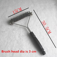 bbq dust - Cleaning Brushes Length Black Grill Brush BBQ Barbecue Cleaner Brushes in Head Design Plastic handle Steel Wire