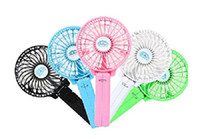 Wholesale High Quality Foldable Hand Fans Battery Operated Rechargeable Handheld Mini Fan Electric Personal Fans Hand Bar Desktop Fan