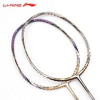 Wholesale Li Ning National Team Sponsored Genuine Special Carbon Fiber Badminton Racket G5 Wood Grip N50 N55