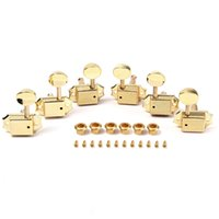 Wholesale 3R3L Vintage Style Gold Guitar Machine Heads Tuners Tuning Peg Oval Button
