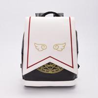 Wholesale Girls Lolita Wings Magic Circle Pattern Backpack Anime Cardcaptor Sakura Cosplay PU Shoulders Bag High Quality
