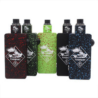Wholesale Tugboat Box Mod Start Kit with Colorful Tugboat Cubed RDA Mechanical Desgin House Battery Box Mod Kit Tuglyfe Portable Vaporizer