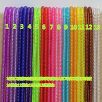 Wholesale Plastic spring Protective sleeve Mobile Tablet transparent Spiral Cord Protector for Phone Charger Earphone Cords