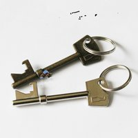 best soda - 2017 Best sales Wedding Favors Bottle Butler Beer Bottle Opener Keychain Vintage Skeleton Key Opening Soda Keychain Key Ring Party Bar Tool