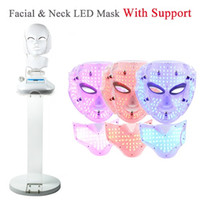 beauty clinic - 3 Color Photon LED Infrared Facial Neck Mask Skin Microcurrent Massager Rejuvenation Anti Aging Beauty Therapy Home Use Clinic