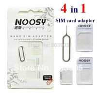 Wholesale 3000set Newest Noosy in Nano Micro to Micro Standard SIM Card Adapter Tray with Eject Pin Key for iphone samsung