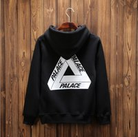 basic hoodie - 2016 solid thick fleece sweatershirt hoodies jacket Tide brand PALACE Skateboards TRI FERG CREW basic hoodie winter hombre coat Free Delive