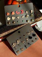 al por mayor paquete pendiente de la vendimia-Marca Multi Negro Vintage paquete de aretes / pendientes de la flor del corazón del tono de oro 10 sistemas / porción Envío libre
