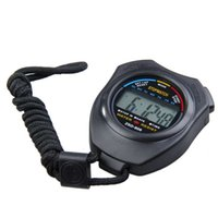 Wholesale 1pcs Sports Stopwatch Professional Handheld Digital LCD Sports Stopwatch Professional Chronograph Counter Timer with Strap