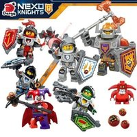 Wholesale Nick Knights Building Blocks nexo Castle Warrior Clay Beast Master Aaron Macy Flame Thrower Smasher Minifigure Toys LegoaIIbi