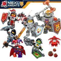 beast warrior - Nick Knights Building Blocks nexo Castle Warrior Clay Beast Master Aaron Macy Flame Thrower Smasher Minifigure Toys LegoaIIbi