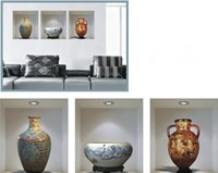 Wholesale high quality D Fashion Creative Ceramic Vase Living Room Background Wall Sticker Decoration